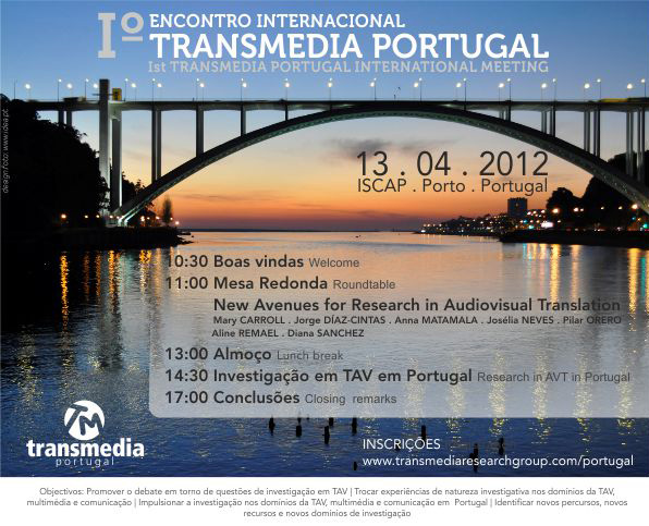 Poster for Transmedia Portugal Meeting